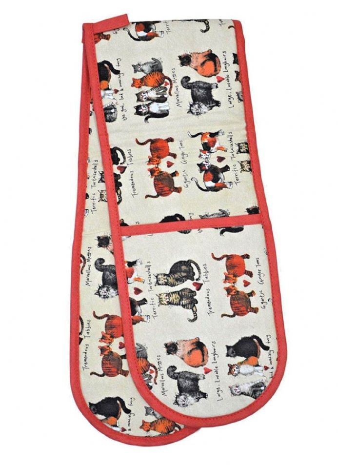 Marvellous Moggies Cotton Oven Gloves